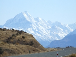 Mt Cook viewed from State Highway 80