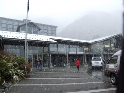 Snowing at the Hermitage Mt Cook