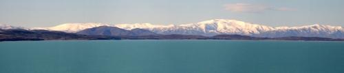 Looking across Lake Pukaki towards Mt Cook