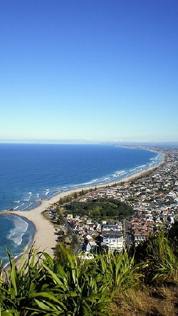 The view from the summit of Mt Maunganui