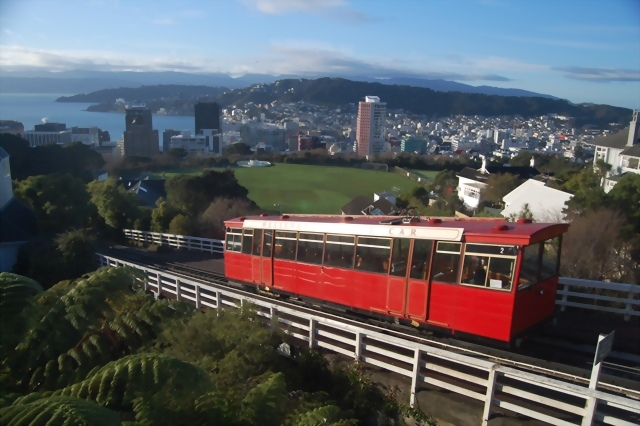 Wellington's iconic cable car. Pic courtesy of NZ Sidekick
