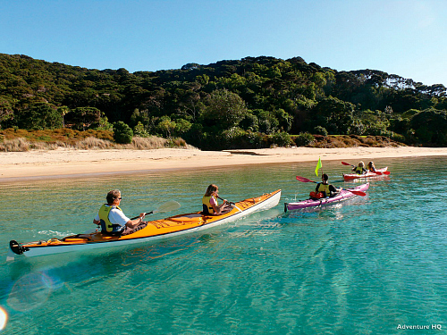 Kayaking in the Bay of Islands - pic courtesy AdventureHQ