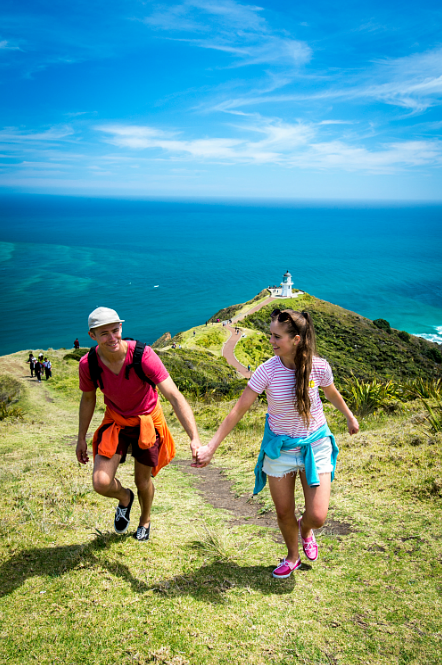 Stunning views at Cape Reinga lighthouse - pic courtesy NorthlandNZ.com