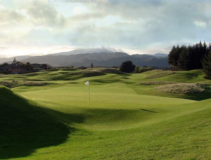 The stunning Paraparaumu Beach golf course