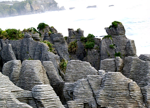 Pancake Rocks at Punakaiki on the West Coast