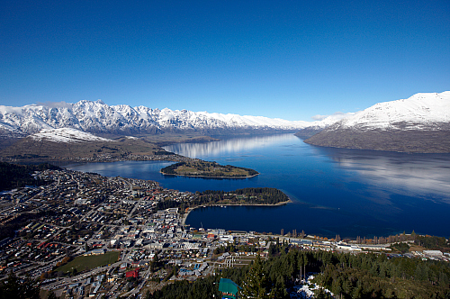 Looking down on Queenstown from Bob's Peak