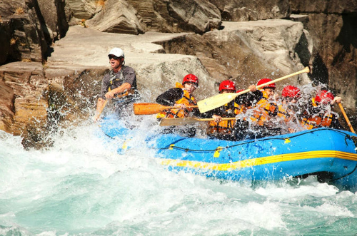 White water rafting on the Kawarau River near Queenstown