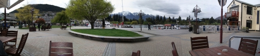 Lakefront in Queenstown. Pubs, restaurants, shops, and one of the best views in the world