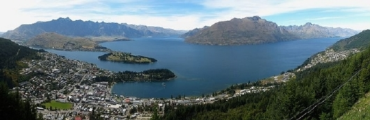 Queenstown panorama from the Skyline Gondol