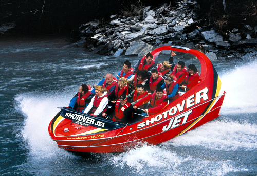 Thrills on the Shotover Jet Queenstown courtesy Shotover Jet
