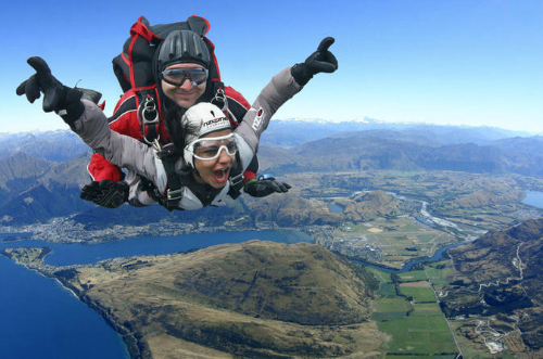 Thrills galore with a Queenstown skydive