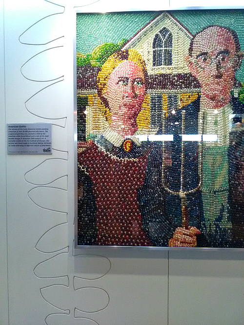 American Gothic jelly bean art