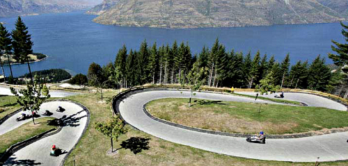 Amazing thrills and views, high above Queenstown on the Skyline Luge