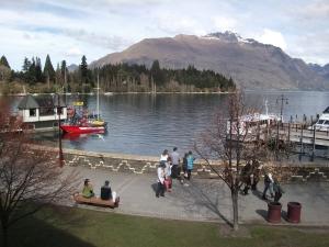 Lake Wakatipu, pictured from Pog Mahone's Irish pub