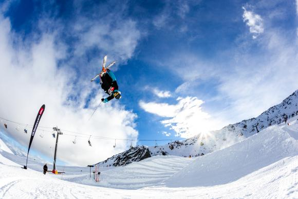 Fun on the mountain at the Slopestyle Invitational