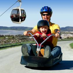 Family fun at the Rotorua luge and gondola - picture courtesy skyline.co.nz