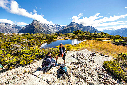 Beautiful scenery on the Routeburn Track - pic courtesy Miles Holden