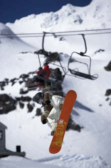 Fun on a snowboard - courtesy visitruapehu.co.nz