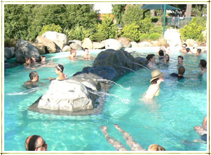 The Hanmer Springs hot pools are the perfect place to relax