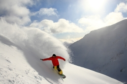 Powder boarding at the Remarkables near Queenstown