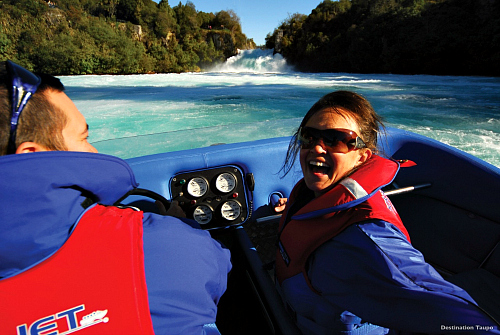 Thundering Huka Falls - image courtesy Destination Lake Taupo