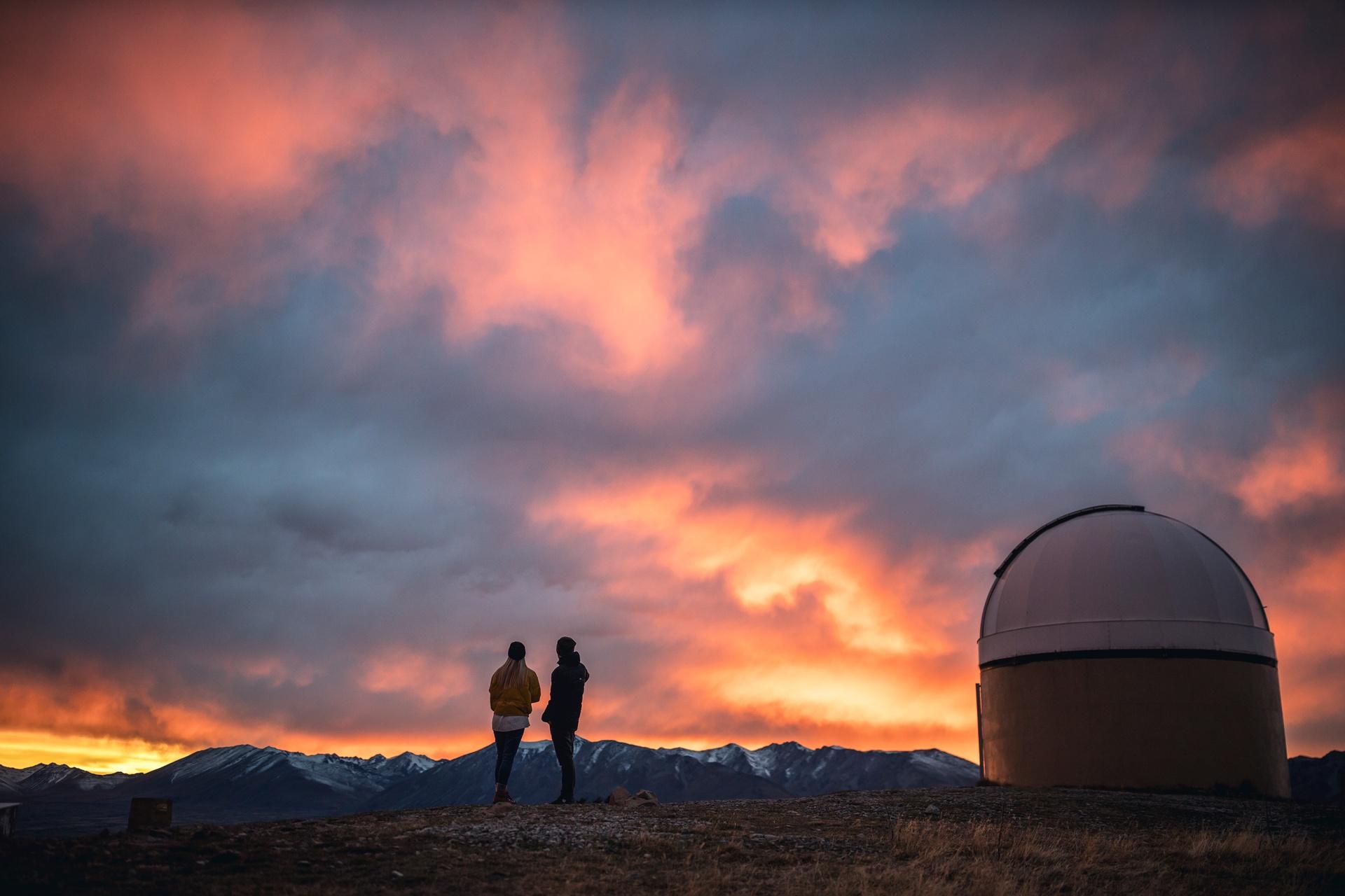 Tekapo Mt. John Observatory image courtesy Miles Holden and TNZ