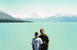 Tim and I at Lake Pukaki way back in 1999