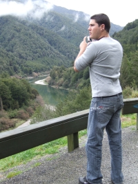 Our son Tim at the Buller River