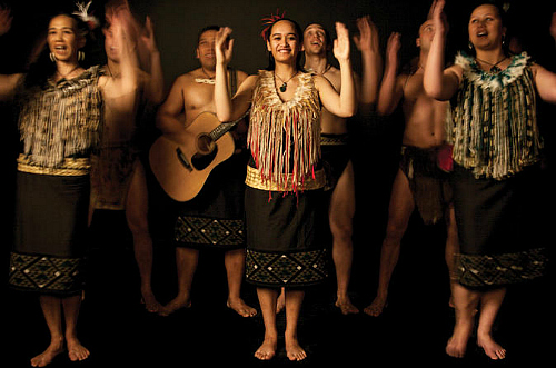 A Maori cultural performance at Auckland Museum