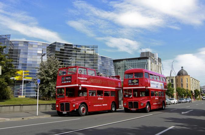 Why not see the sights on a Christchurch Classic Double Decker Bus tour - click for more details