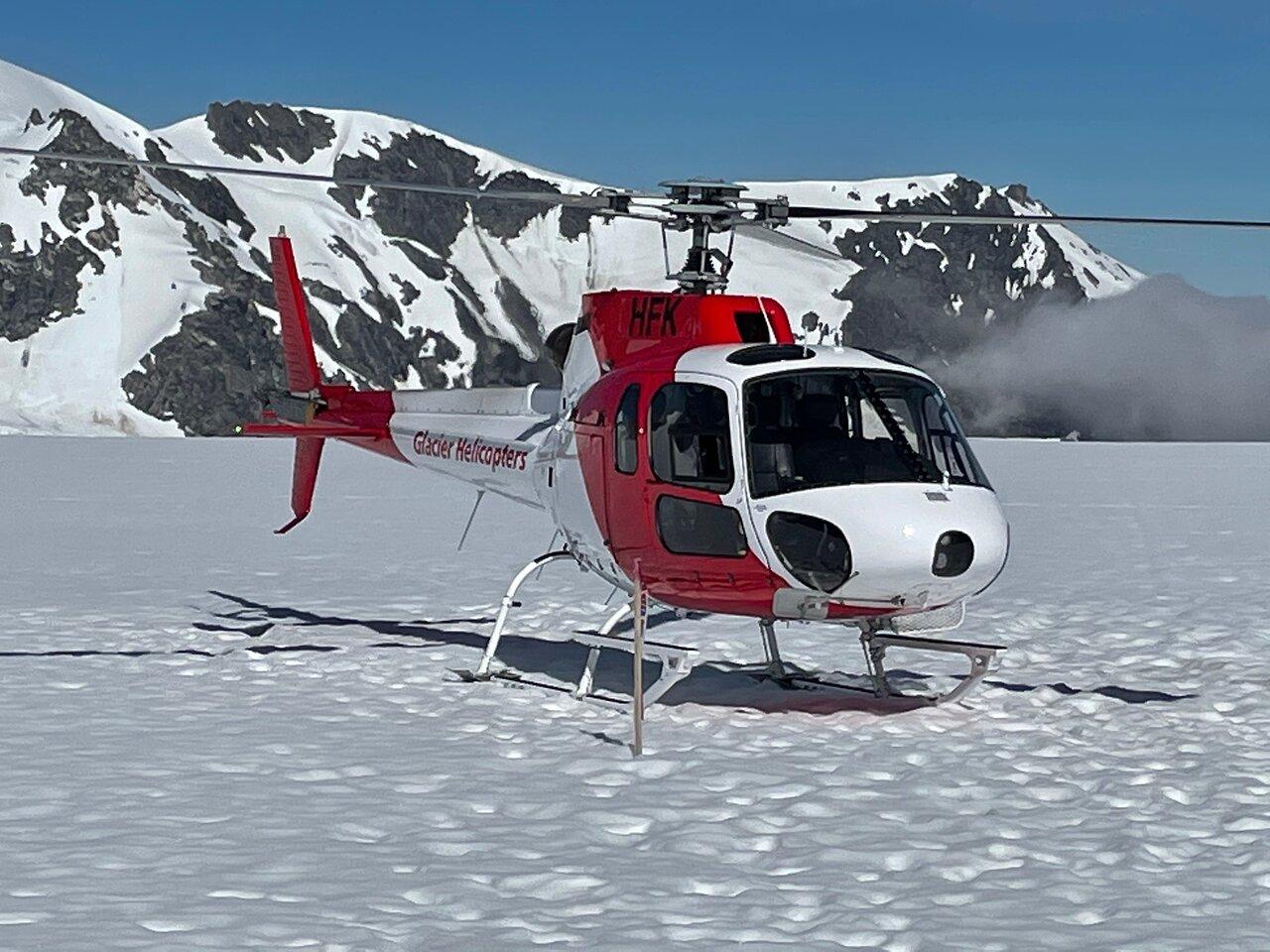 Franz Josef Glacier helicopter landing. Click for information.