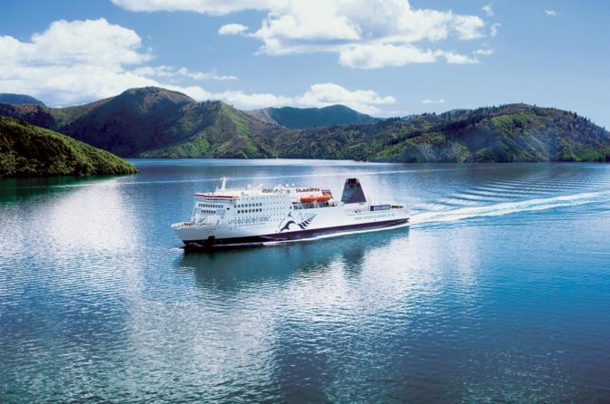 The Interislander cruises through the Marlborough Sounds