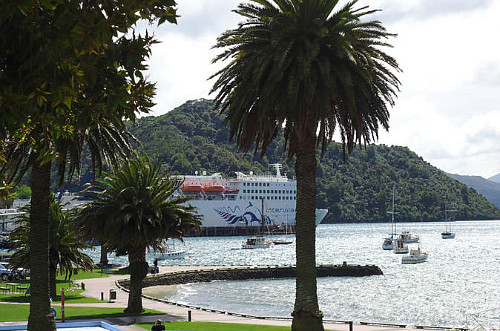 The Interislander at dock in Picton