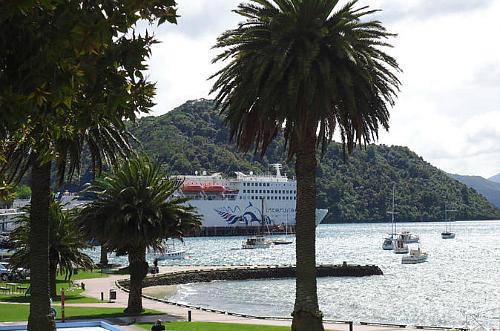 The Interislander at dock in Picton