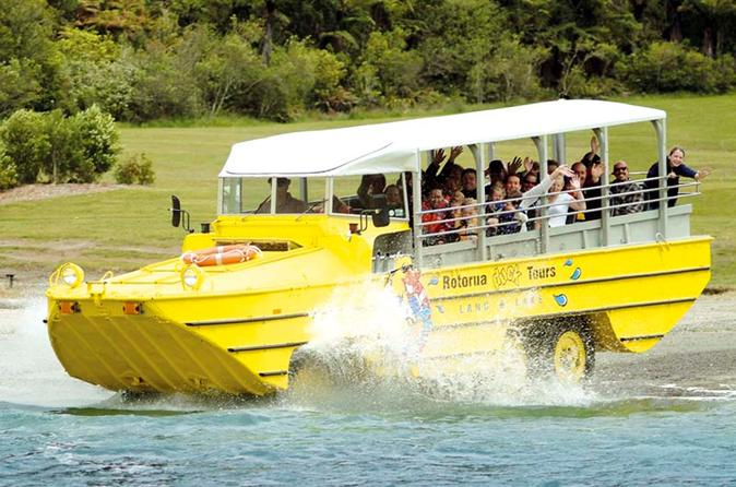 Great fun on the Rotorua Duck Tour
