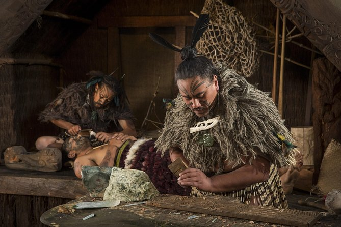 Experience traditional Maori culture with a Hangi dinner and performance at Tamaki Maori Village. Click for more information.