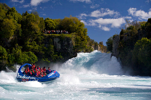 A jetboat ride to Huka Falls is an exhilarating experience