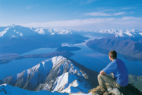 Wow! Looking over Wanaka from Roys Peak - image by WanakaNZ