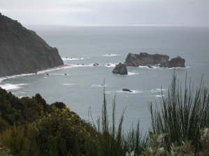 Knight's Point lookout, just north of Haast