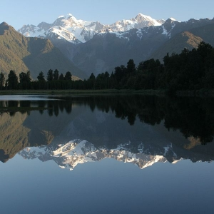Just another stunning vista! Lake Matheson on the South Island's wild West Coast - picture courtesy Ulrich Hoecker