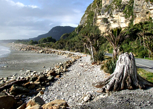 The rugged West Coast at Punakaiki