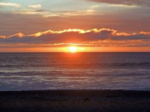 Watching the sunset at Punakaiki