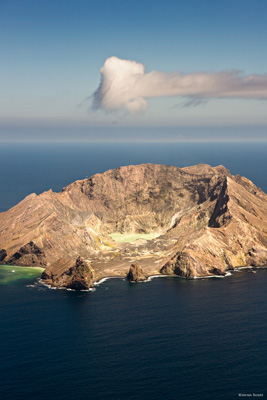 The active volcano White Island