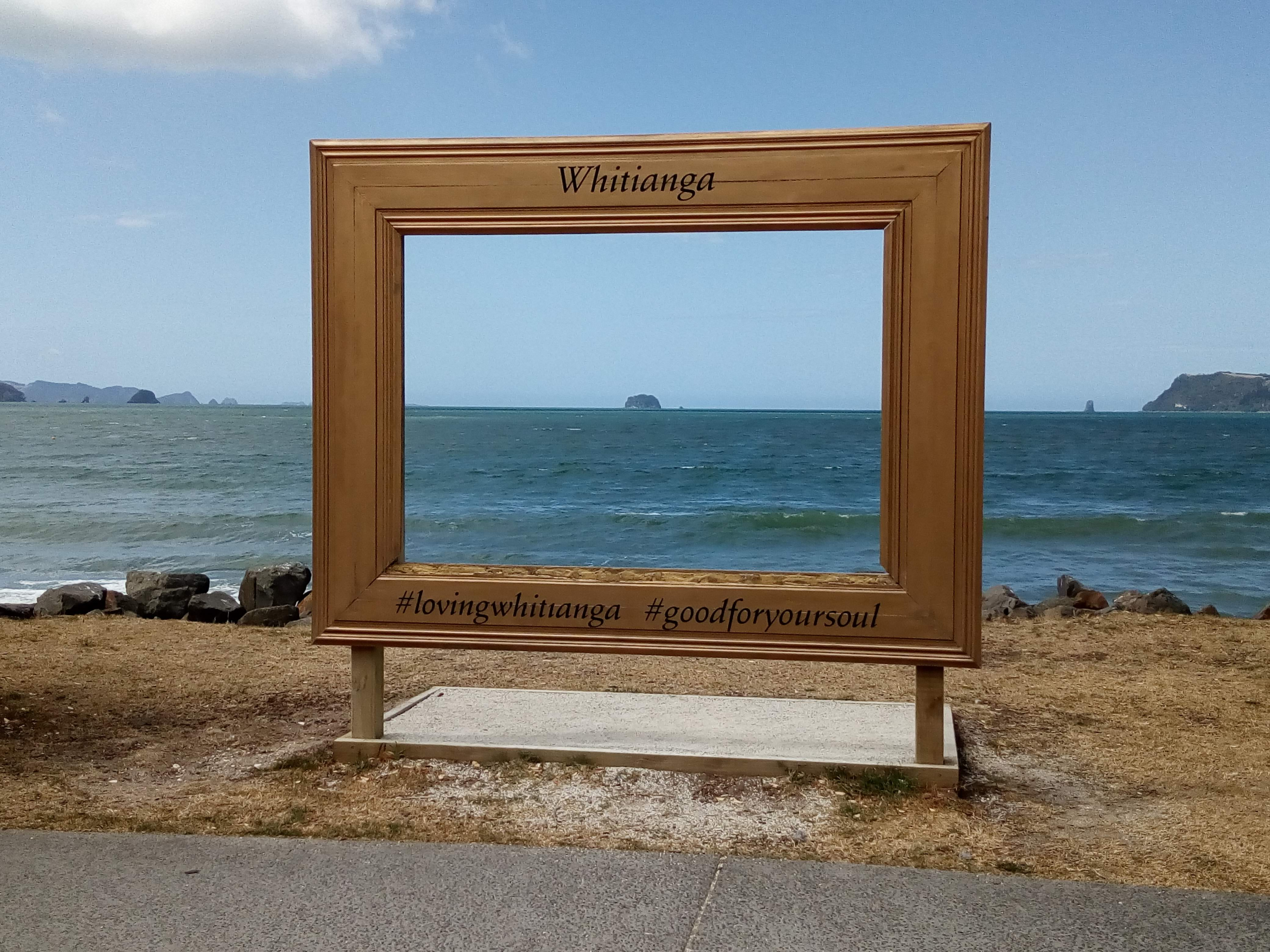 What a view to frame. Whitianga in the Coromandel.