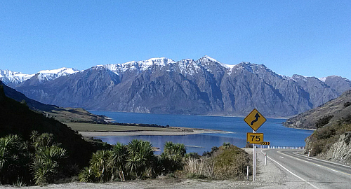 Lake Hawea viewed from State Highway 6