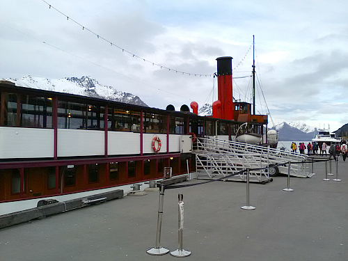 The TSS Earnslaw at dock in Queenstown