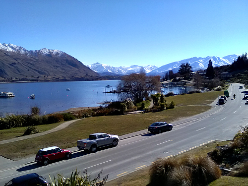 The view from The Moorings at Wanaka. Click for more information.