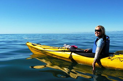 Kayak in the Abel Tasman on the full day Astrolabe eco tour - click for more information