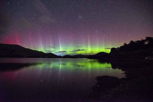 The Aurora Australis, seen near Dunedin. Pic courtesy Dr. Ian Griffin, Otago University