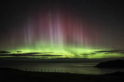 The Aurora Australis during a storm in 2017 - pic courtesy Dr. Ian Griffin, Otago University